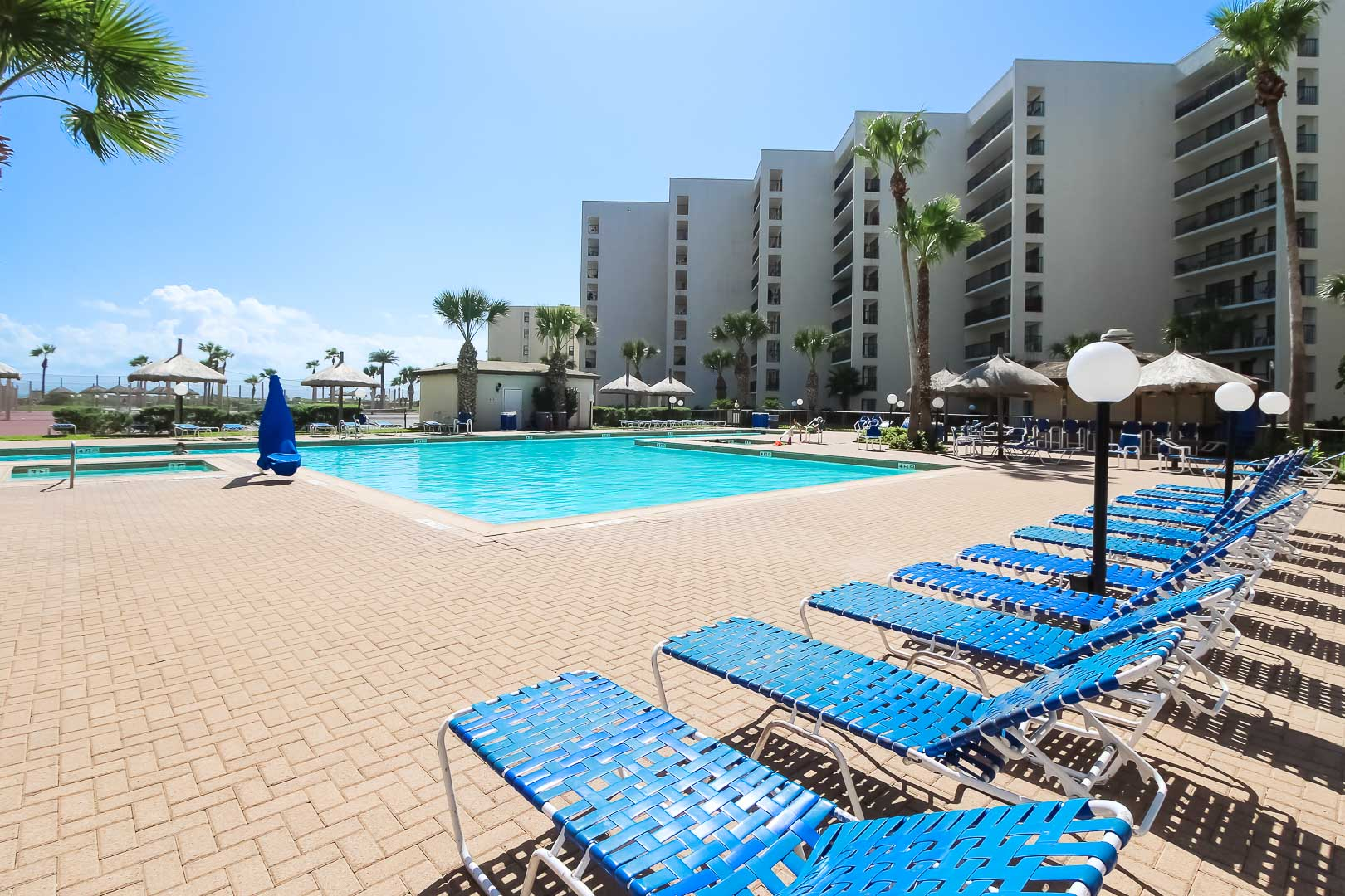 An expansive view at VRI's Royale Beach and Tennis Club in Texas.