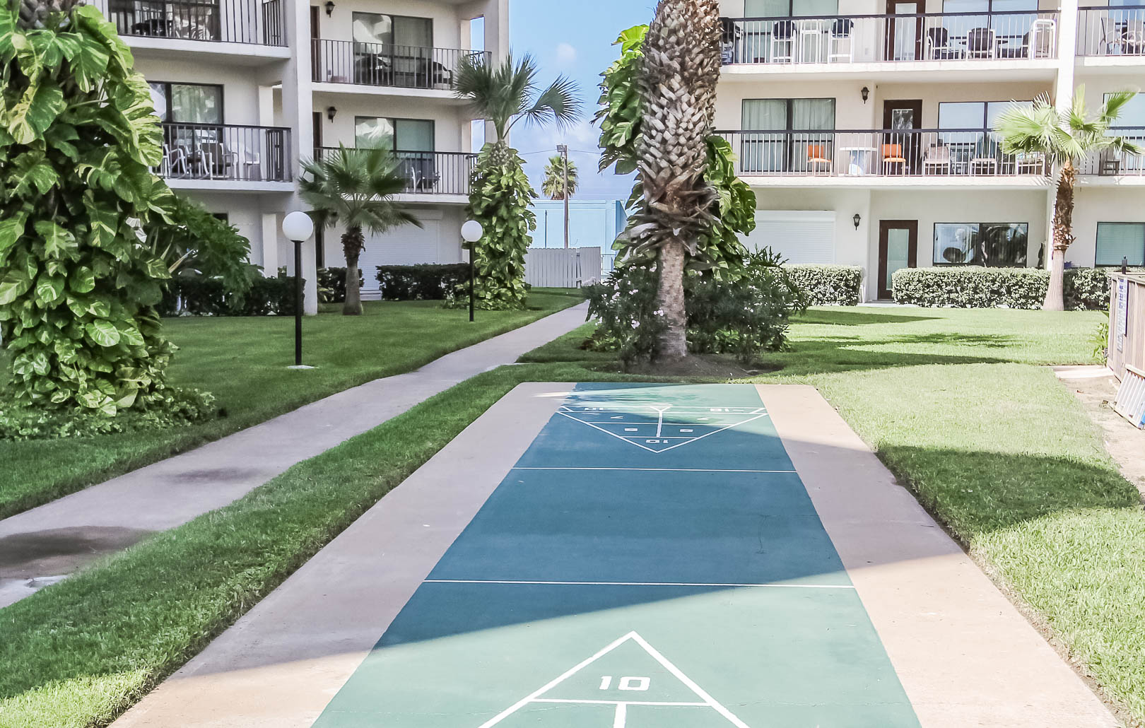 Outdoor amenities at VRI's Royale Beach and Tennis Club.