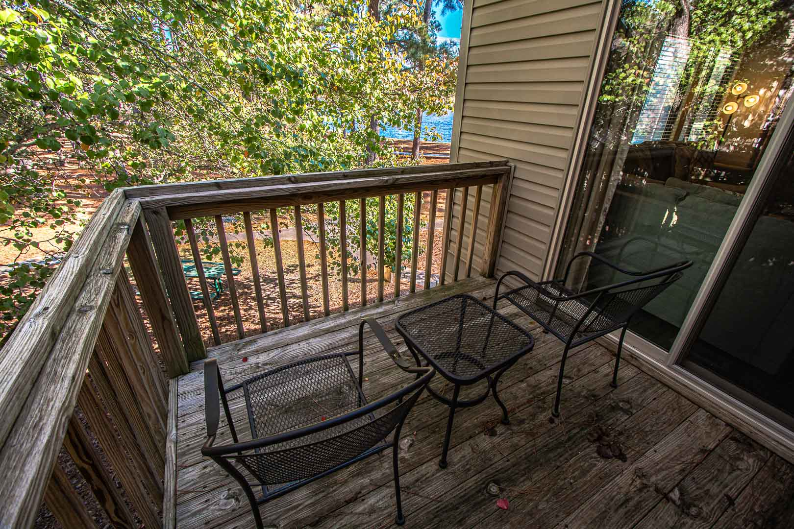 A relaxing view from the balcony at VRI's Sandcastle Cove in New Bern, North Carolina.