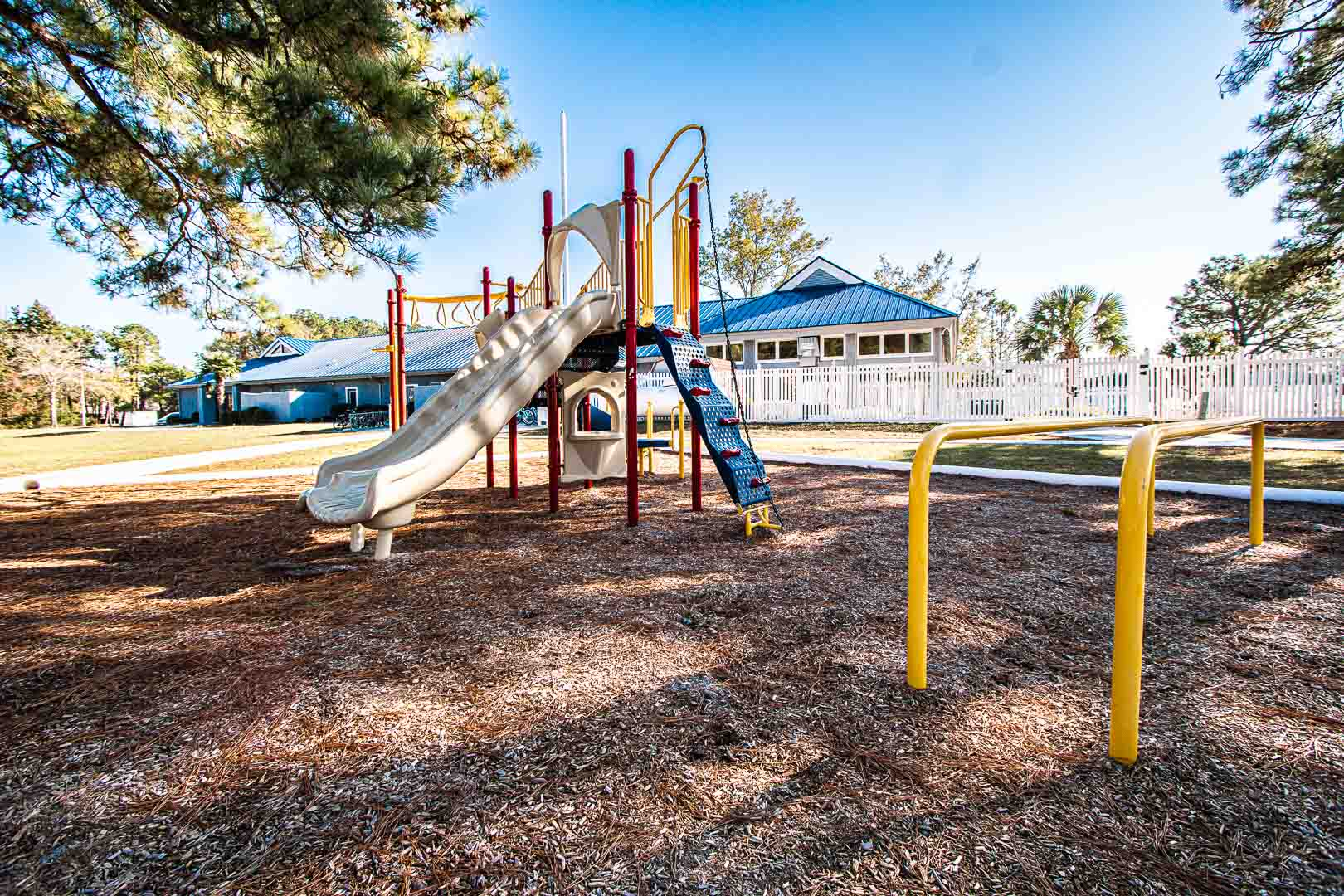 An outdoor children's playground at VRI's Sandcastle Cove in New Bern, North Carolina.