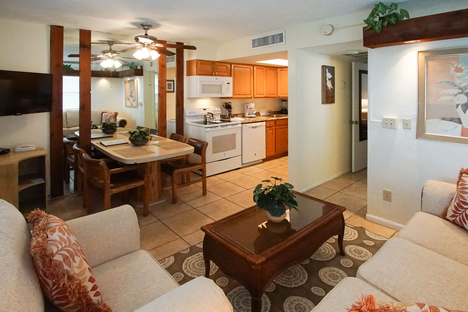 A traditional 1 Bedroom unit at VRI's Sand Dune Shores in Florida.