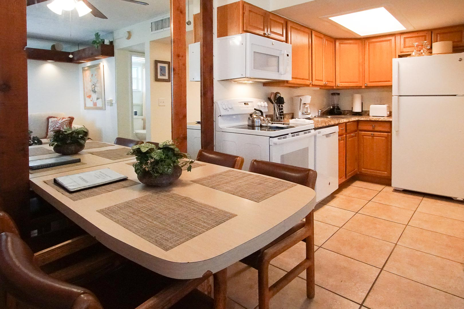 A spacious kitchen area at VRI's Sand Dune Shores in Florida.