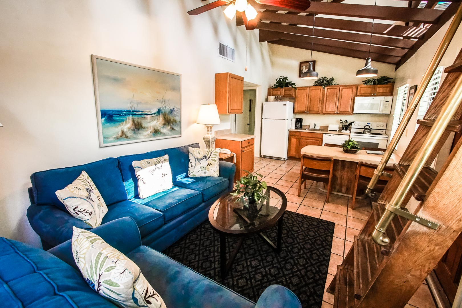 A spacious 2 bedroom loft at VRI's Sand Dune Shores in Florida.