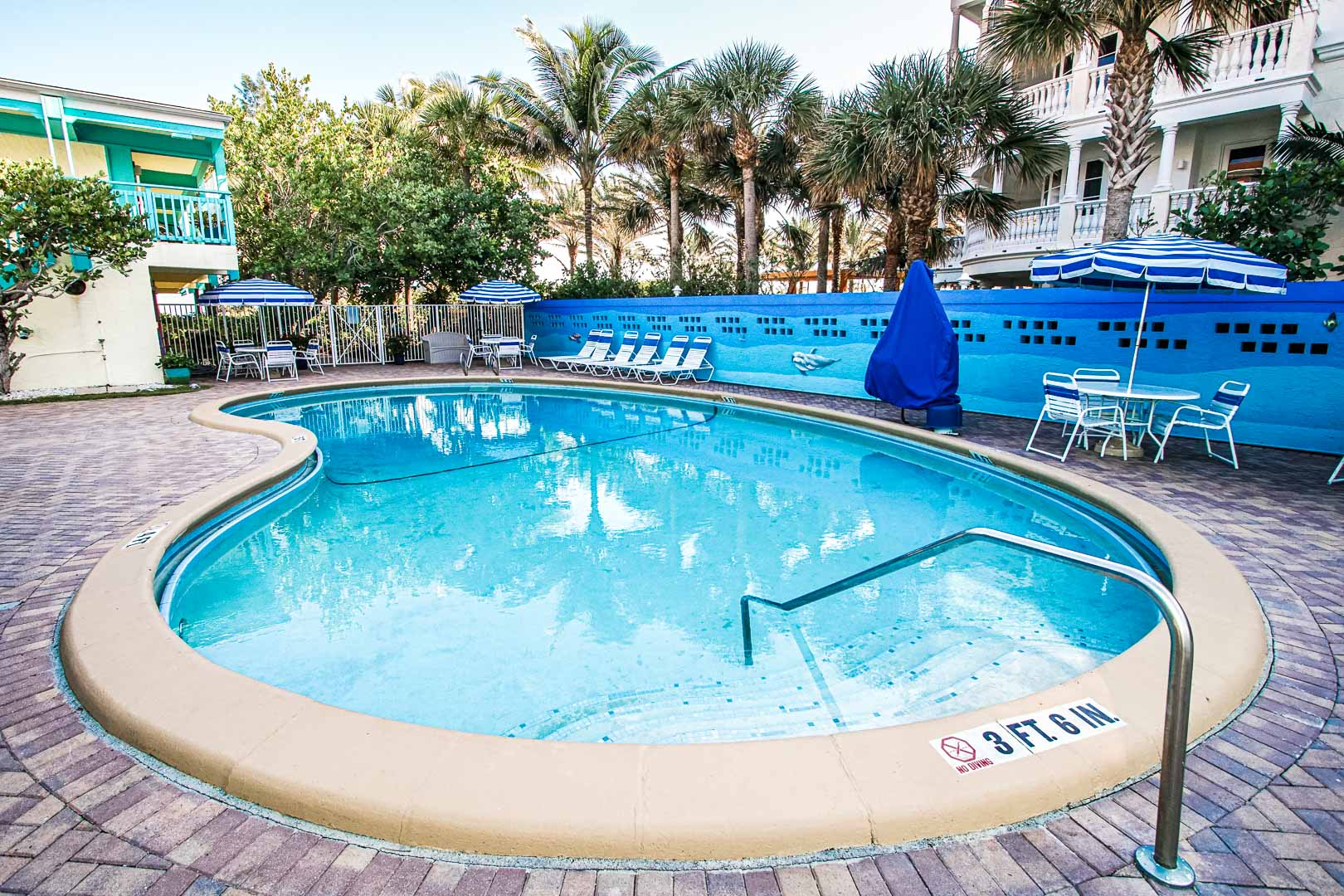 An expansive swimming pool at VRI's Sand Dune Shores in Florida.