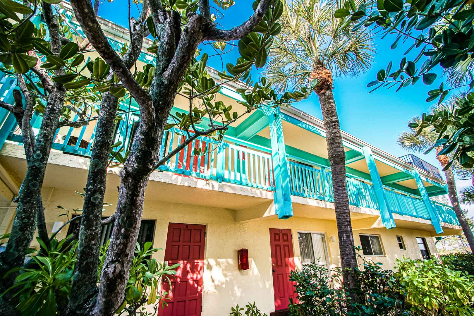 A colorful outside view at VRI's Sand Dune Shores in Florida.