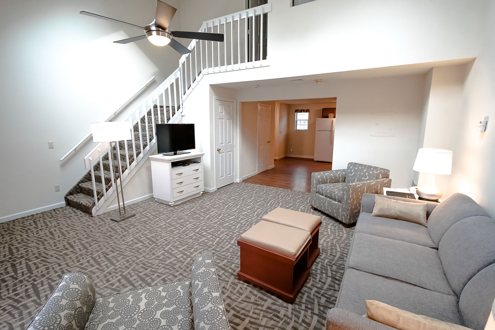 A spacious two-story condominiums at VRI's Sea Mist Resort in Massachusetts.