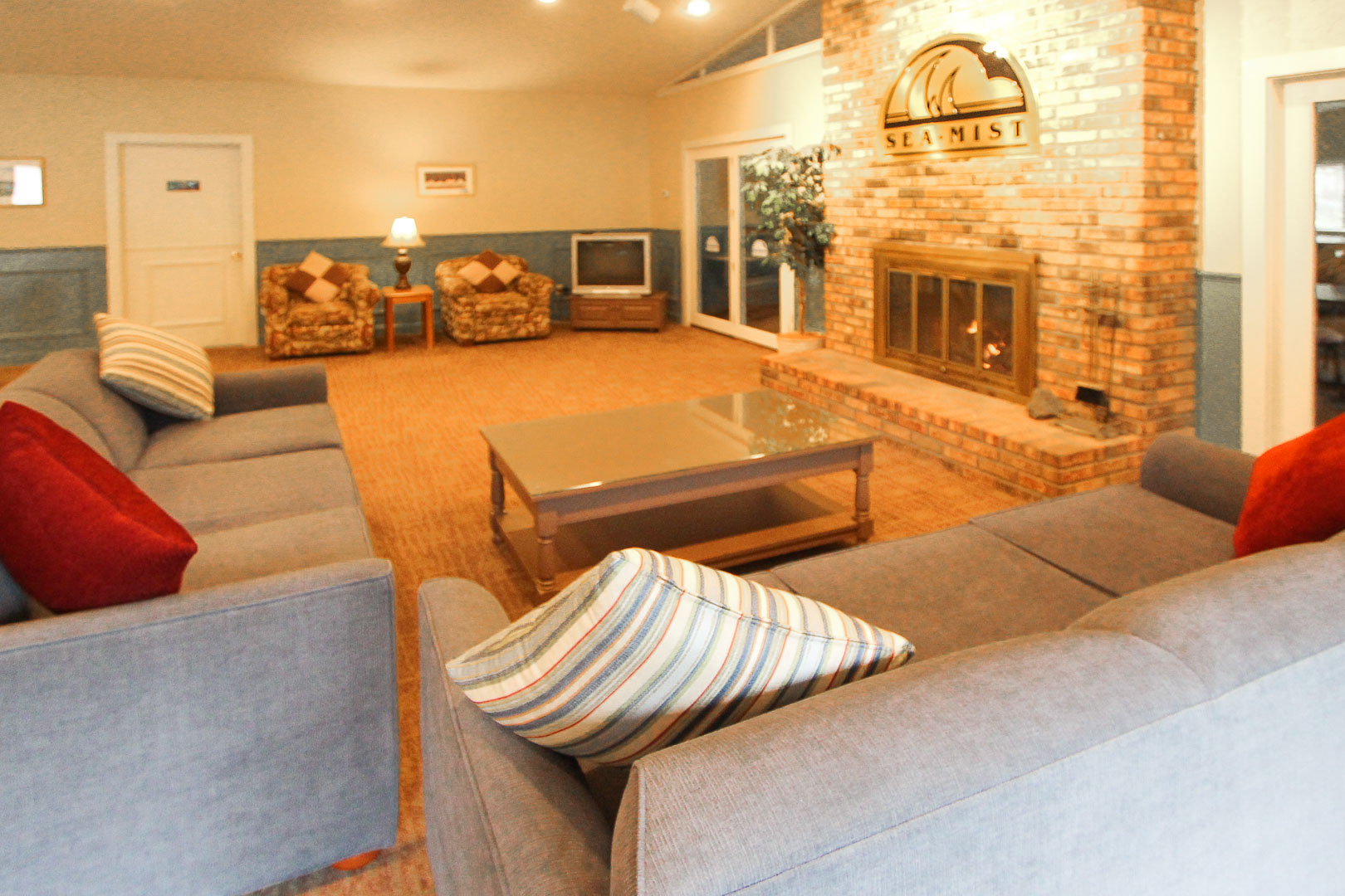 A welcoming lobby area at VRI's Sea Mist Resort in Massachusetts.