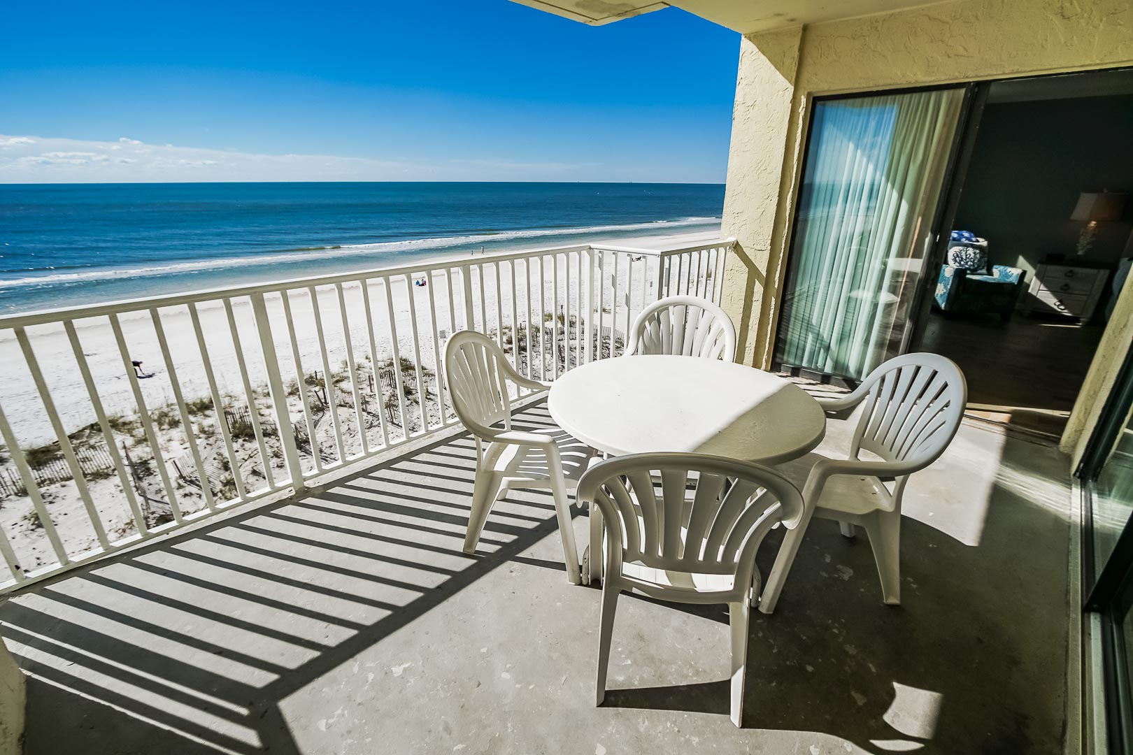 A beautiful view from the balcony at VRI's Shoreline Towers in Gulf Shores, Alabama.
