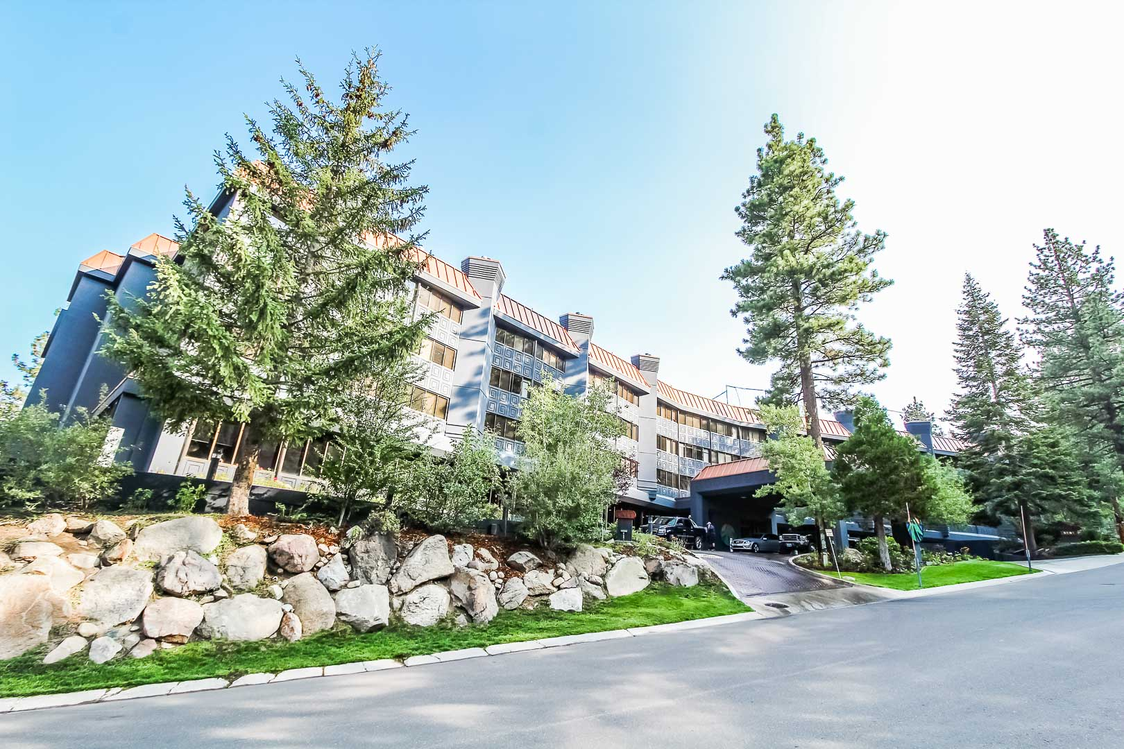 An outside view at VRI's Tahoe Seasons Resort in California.