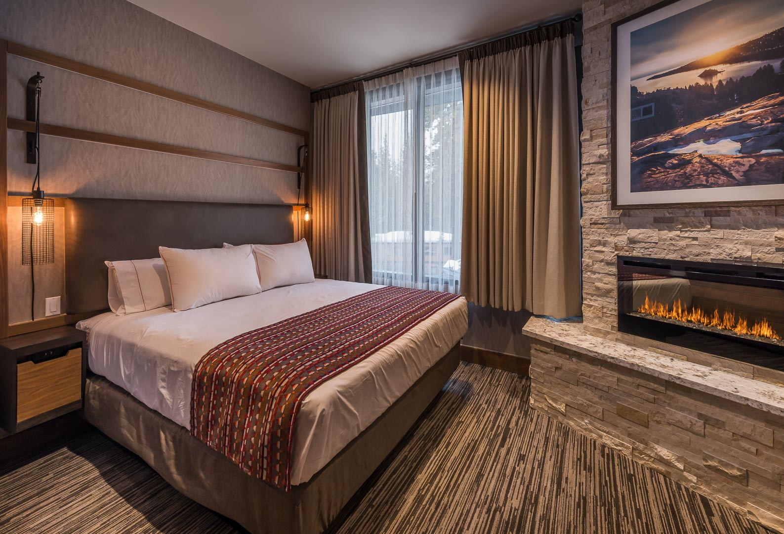 The lobby at VRI's Tahoe Seasons Resort in California.