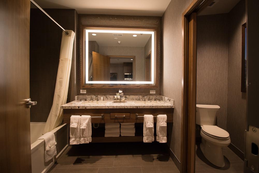 A renovated lobby area at VRI's Tahoe Seasons Resort in California.