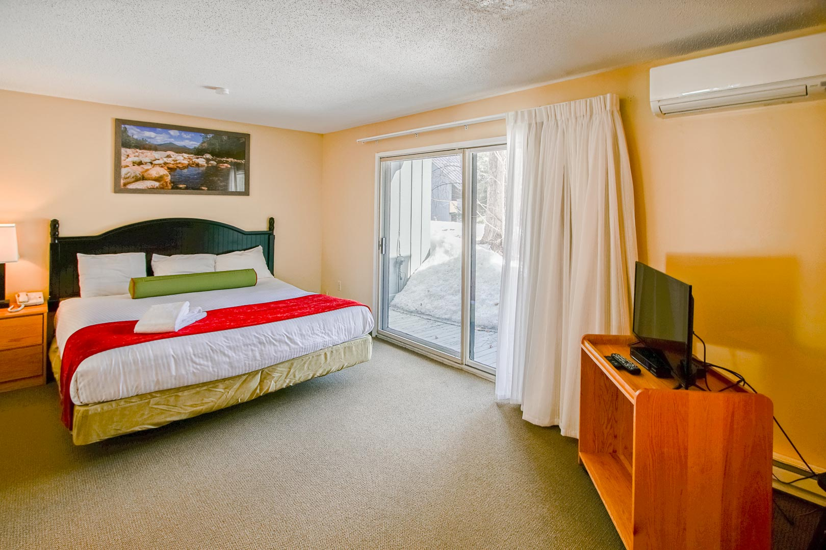 A spacious two-bedroom unit at VRI's Village of Loon Mountain in New Hampshire.