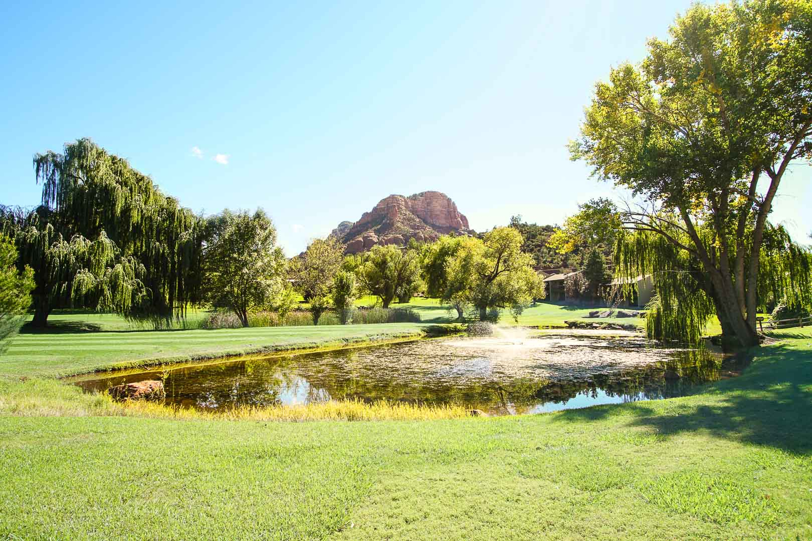 A peaceful outside view  at VRI's Villas at Poco Diablo in Sedona, Arizona.
