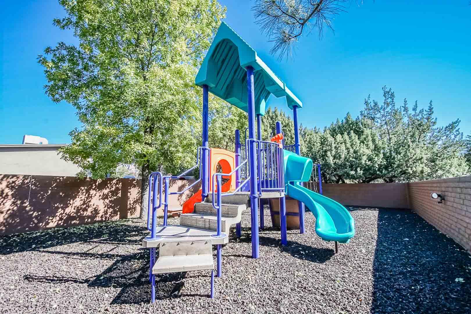 A colorful children's playground at VRI's Villas of Sedona in Arizona.