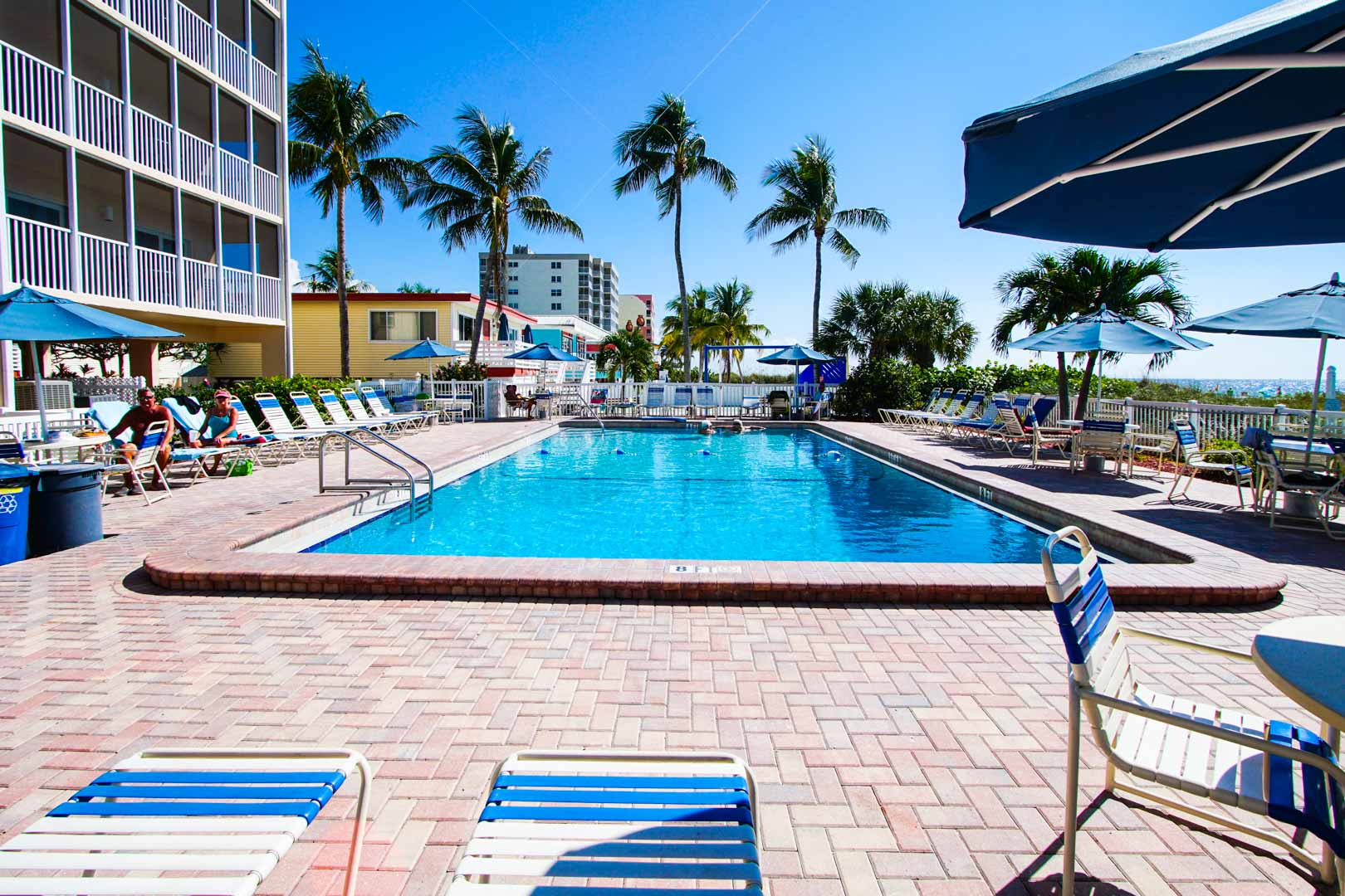 A clean crisp pool at VRI's Windward Passage Resort in Fort Myers Beach, Florida.