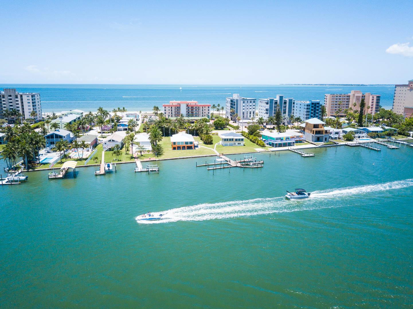 The scenic beach at VRI's Windward Passage Resort in Fort Myers Beach, Florida.