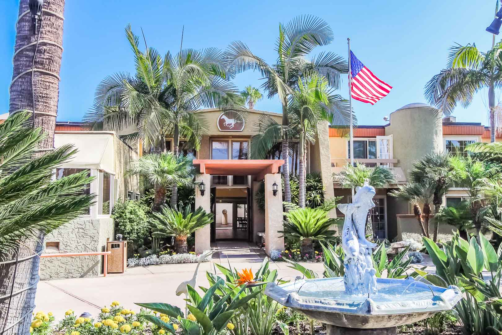 Beautiful clear skies at VRI's Winner Circle Resort in California.
