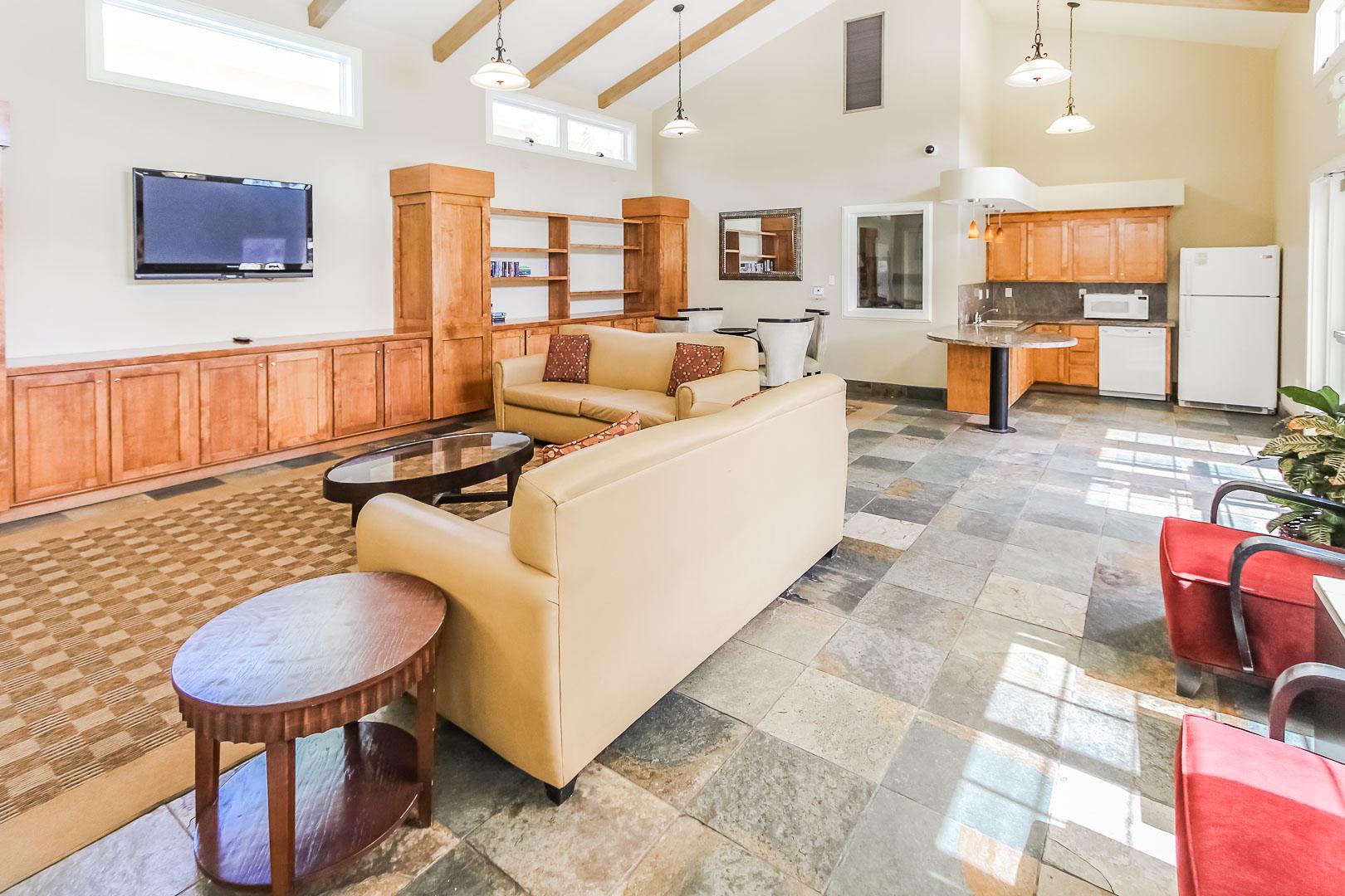 A community kitchen area at VRI's Winner Circle Resort in California.