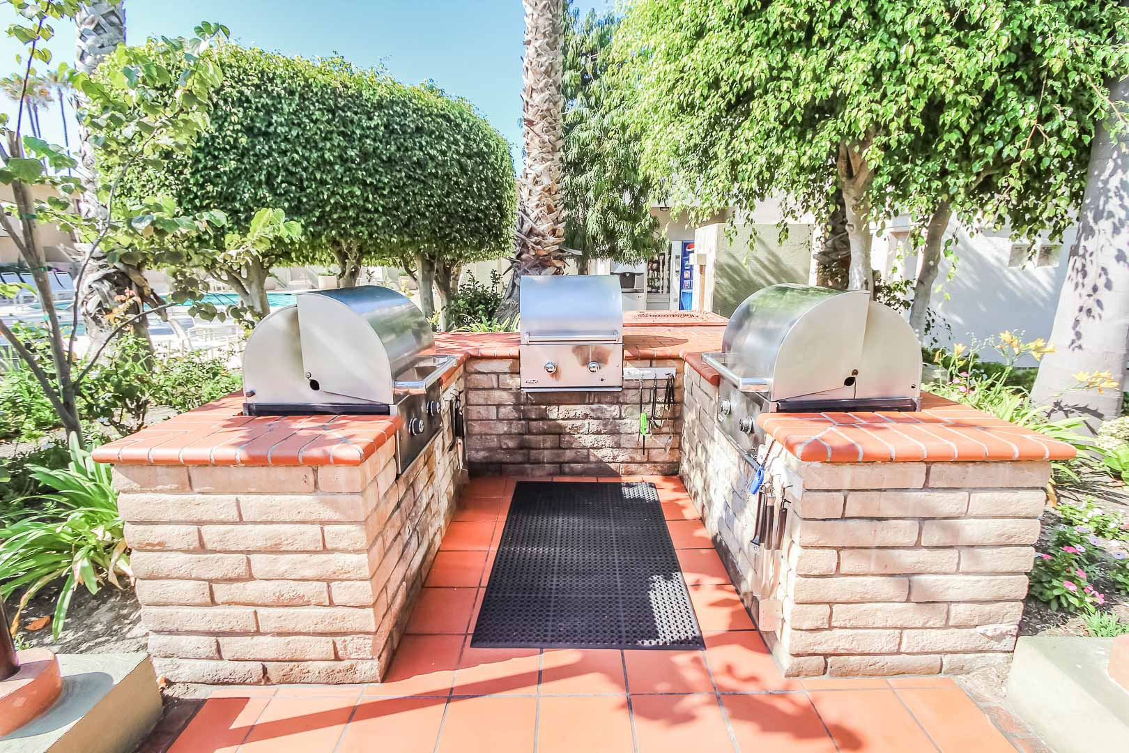Stoic BBQ Grills at VRI's Winner Circle Resort in California.
